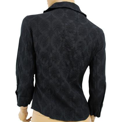 Just Cavalli Pulsante nero camicia giù