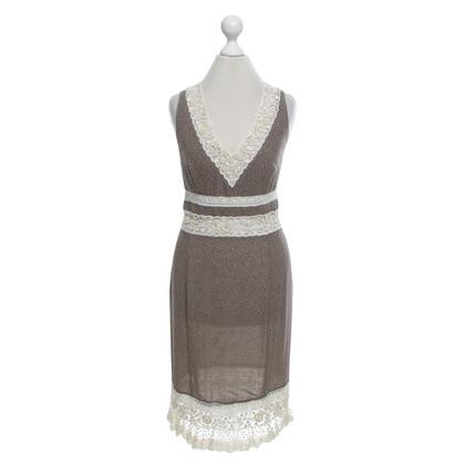 Valentino zijden jurk met borduurwerk