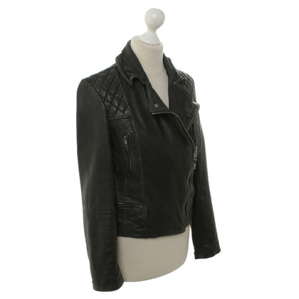 All Saints Bikerjacke im Vintage-Look