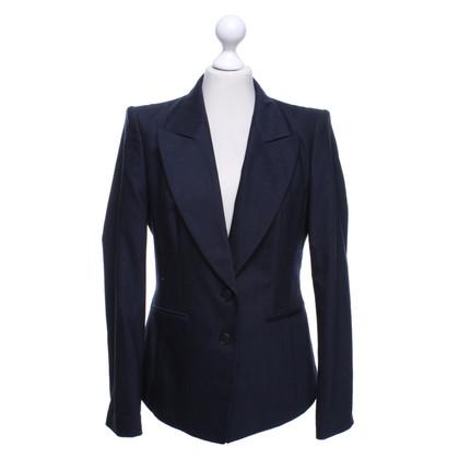 Hugo Boss Marineblauwe blazer met krijtstrepen