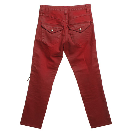 Isabel Marant Cotton pants in red