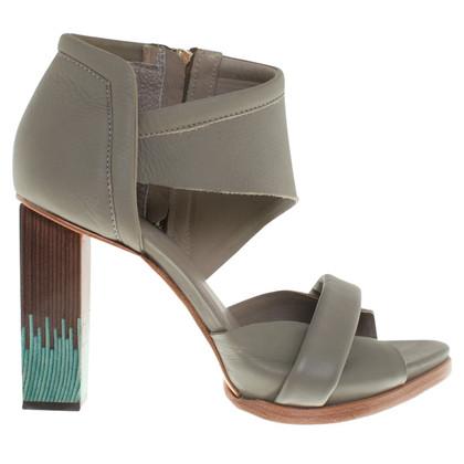 Finsk Sandaletten aus Leder