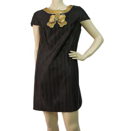 Tibi Agrémentée d'or Bow Detail Robe droite