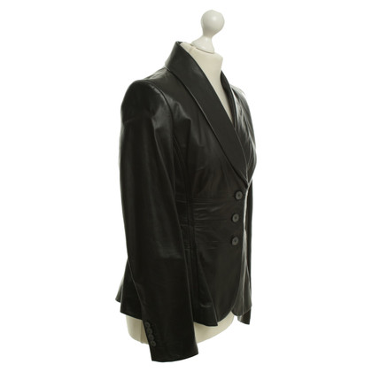 Hugo Boss Giacca in pelle in Black