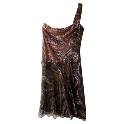 Kenzo One-Shoulder Kleid aus Seide