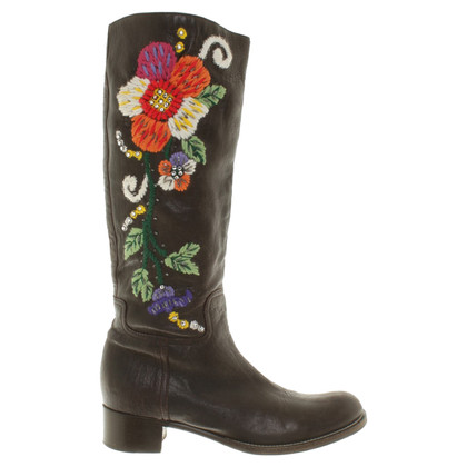Miu Miu Boots with embroidery