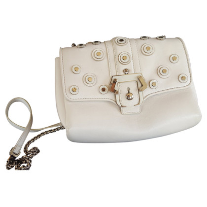 Paula Cademartori  LEATHER BAG. IVORY.