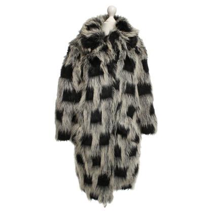 Anna Sui Fur fur coat in black / white