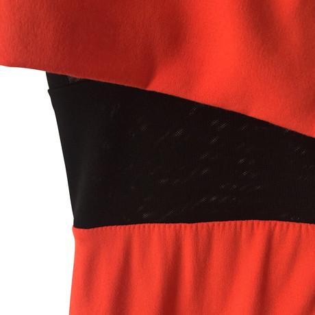 Maje Kleid Kleid Orange Orange in Maje in Schwarz qPTwTdH