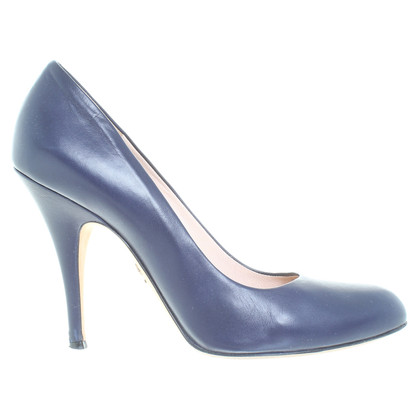 Bally Leder-Pumps in Blau