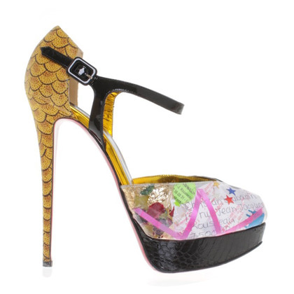 Christian Louboutin Peeptoes with graphic pattern