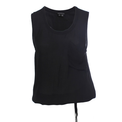 Theory Top in seta nero