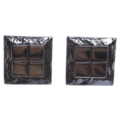 Yves Saint Laurent Extravagante Quadratische Ohrclips