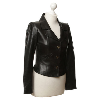 Chanel Blazer di pelle nero