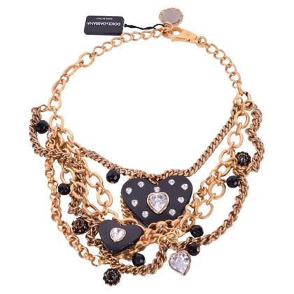 Dolce & Gabbana Crystal heart necklace