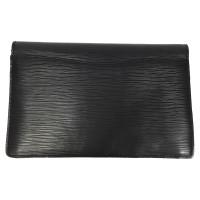 "Louis Vuitton ""Pochette Montaigne Epi Leather"" in black"