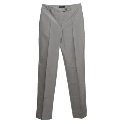 Prada Pantalone in seta in grigio
