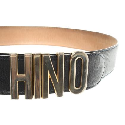 Moschino Leather belt in dark blue