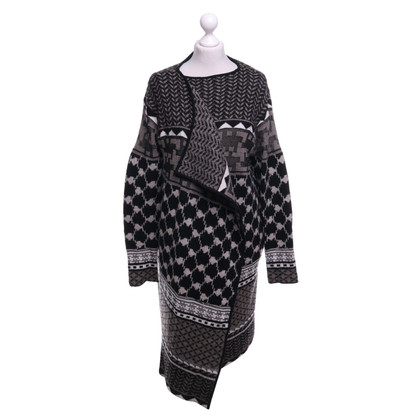 Lala Berlin Knitted coat with pattern mix