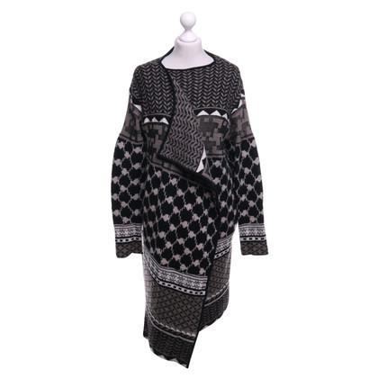 Lala Berlin Manteau tricoté avec mélange de motifs
