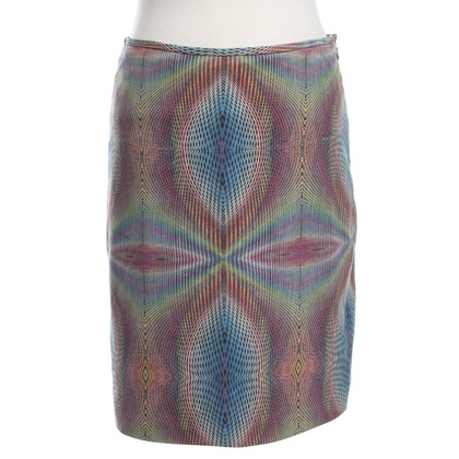Marc Cain Leather skirt in Multicolor