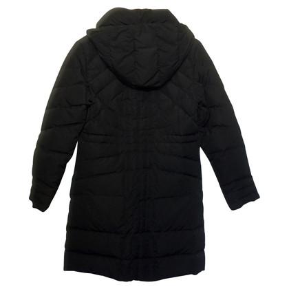 Moncler Manteau noir vers le bas