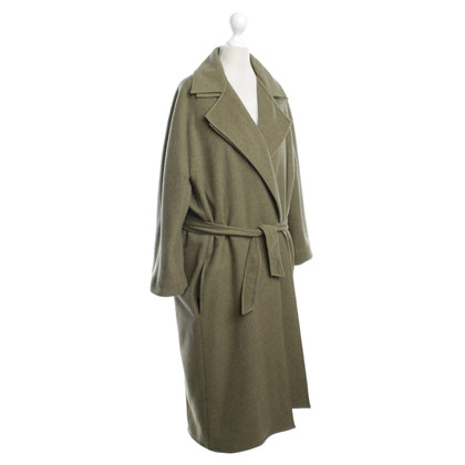 Hermès Cashmere coat in olive