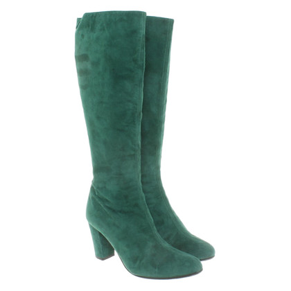 L.K. Bennett Suede boots in green