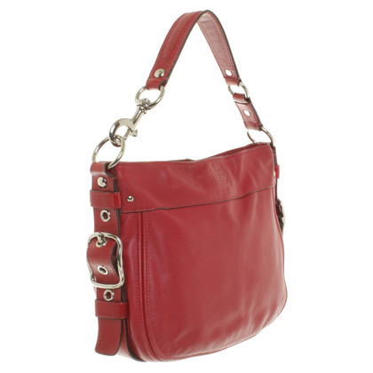 Coach Leather Handbag in Red