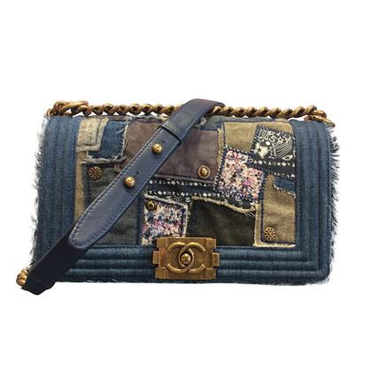 "Chanel ""Boy Bag"" van denim patchwork"