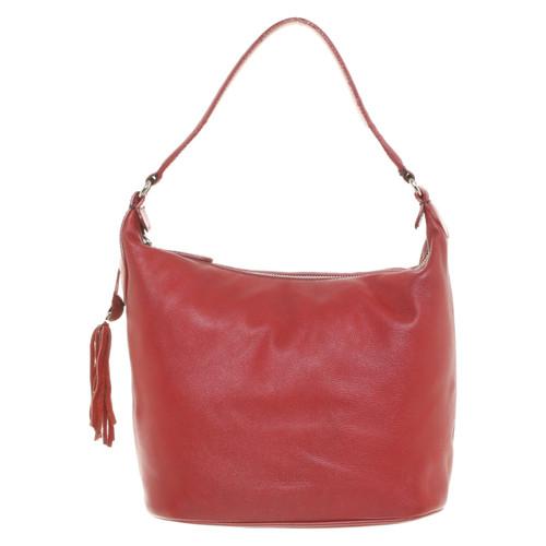 3142f70448c96 Furla Handtasche aus Leder in Rot - Second Hand Furla Handtasche aus ...