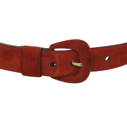 Jil Sander Suede belt in red