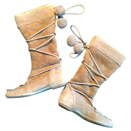 Christian Dior Lammfellstiefel