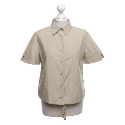 Armani Jeans Blouse met korte mouwen in beige