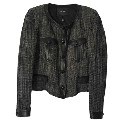 Isabel Marant Giacca in pelle e tweed