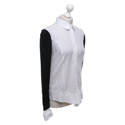 Stefanel Blouse in black and white