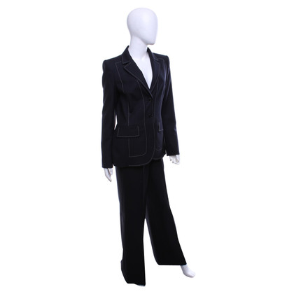 Escada Pantsuit in navy blue and white