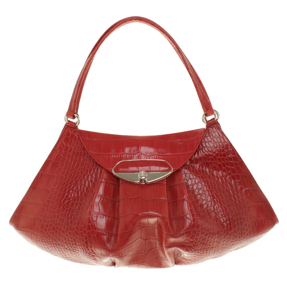 furla handtasche in rot second hand furla handtasche in. Black Bedroom Furniture Sets. Home Design Ideas