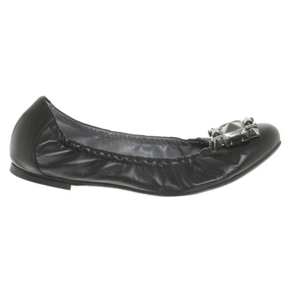 JOOP! Ballerinas, 37 1/2, black, worn once
