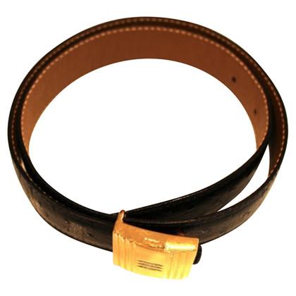 Hermès Ostrich leather belt
