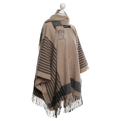 Patrizia Pepe Poncho with checked pattern