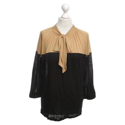 René Lezard Top in nero / beige