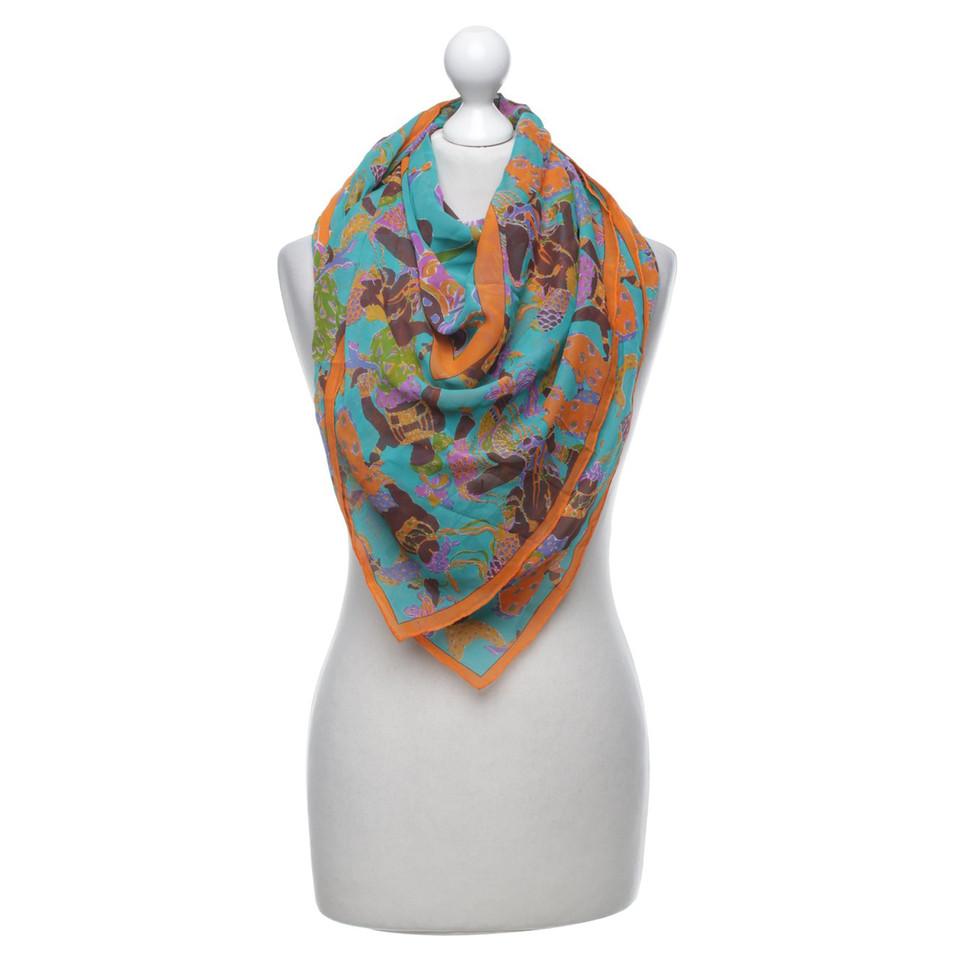 Yves Saint Laurent Multi-colored silk cloth