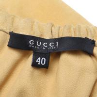 Gucci Wildlederkleid in Senfgelb