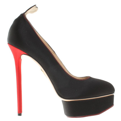 Charlotte Olympia pumps in black / red