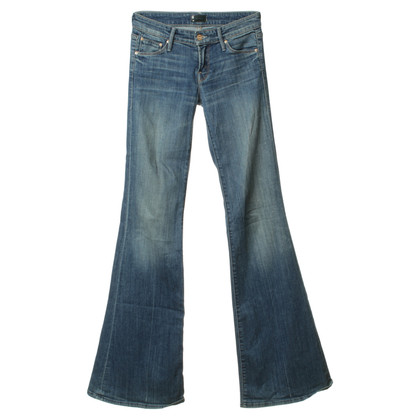 Mother Bootcut-Jeans in Blau