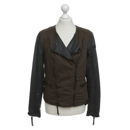 Other Designer Tigha - biker jacket with leather sleeves