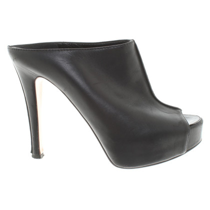 Gianvito Rossi Plateau Peeptoes in zwart