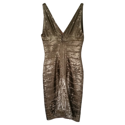 Herve Leger Gold sequin dress