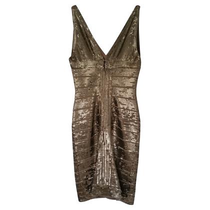 Herve Leger Gouden pailletten jurk